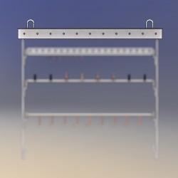 Cintre longueur 1 M, points de fixation espacés de 100 mm, 2 anneaux soudés aux extrémités