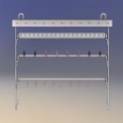 Potence hauteur 1.50 M, 6 points de fixation pour manchons