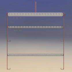 Potence hauteur 1.00 M, 4 points de fixation directs