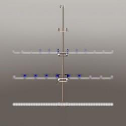 Potence hauteur 1.00 M, 4 points de fixation, pour manchons au centre