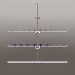 Potence hauteur 1.50 M, 6 points de fixation, pour manchons au centre