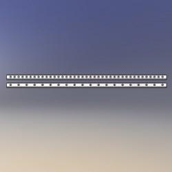 Barre d'accrochage en U pour assemblage direct, longueur 100 cm, espacement accrochage 25 mm, crochets diam 1 à 3
