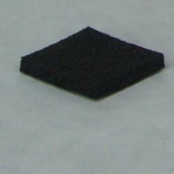 Carrés caoutchouc adhésif 20 x 20 x 4 mm