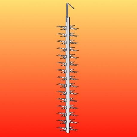 Balancelles titane pinces simples - L800 - Esp 50 - 4 par étage