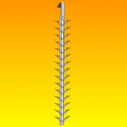 Balancelles titane pinces en V - L800 - Esp 50 - 2 par étage