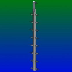 Balancelles titane grande pince Y - L800 - Esp 50 - 2 par étage