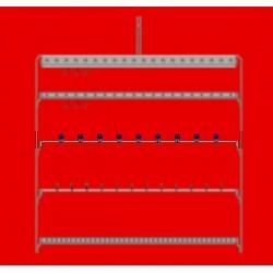 Barre 1m à manchon - 20 tubes carré 10x10 esp. 100