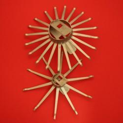 Rosace Titane avec 30 branches